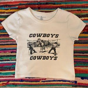 Brandy Melville Cropped Shirt